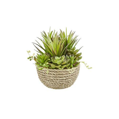 Höffner Kunstblume im Topf ¦ grün ¦ Kunststoff, Polyresin (Kunstharz) ¦ Maße