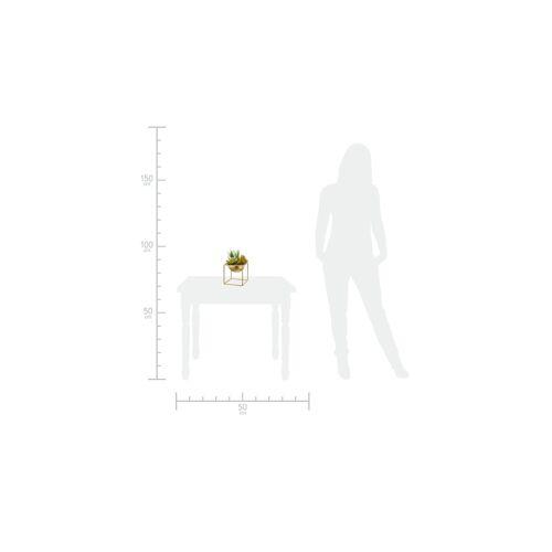 Höffner Kunstblume auf Metallständer ¦ gold ¦ Kunststoff, Metall ¦ Maße (cm):