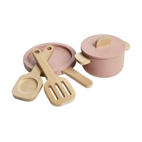 FLEXA Topf- und Pfannenset  The Kitchen ¦ rosa/pink ¦ Birke massiv