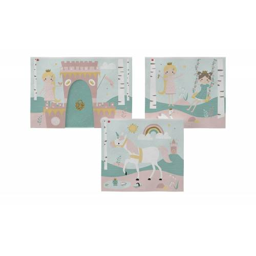 FLEXA Spielvorhang 3-teilig  Flexa ¦ rosa/pink