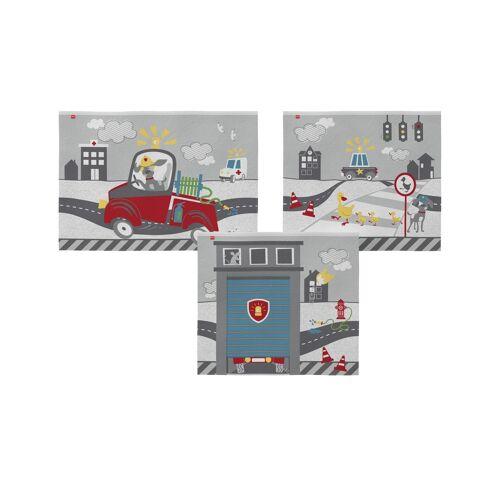 Höffner Spielvorhang 3-teilig  Flexa ¦ grau