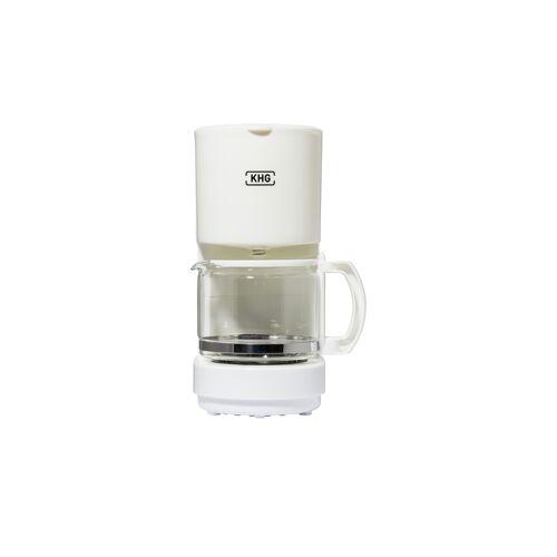 KHG Kaffeemaschine  KA-111 (W) ¦ weiß ¦ Kunststoff, Glas  ¦ Maße (cm)