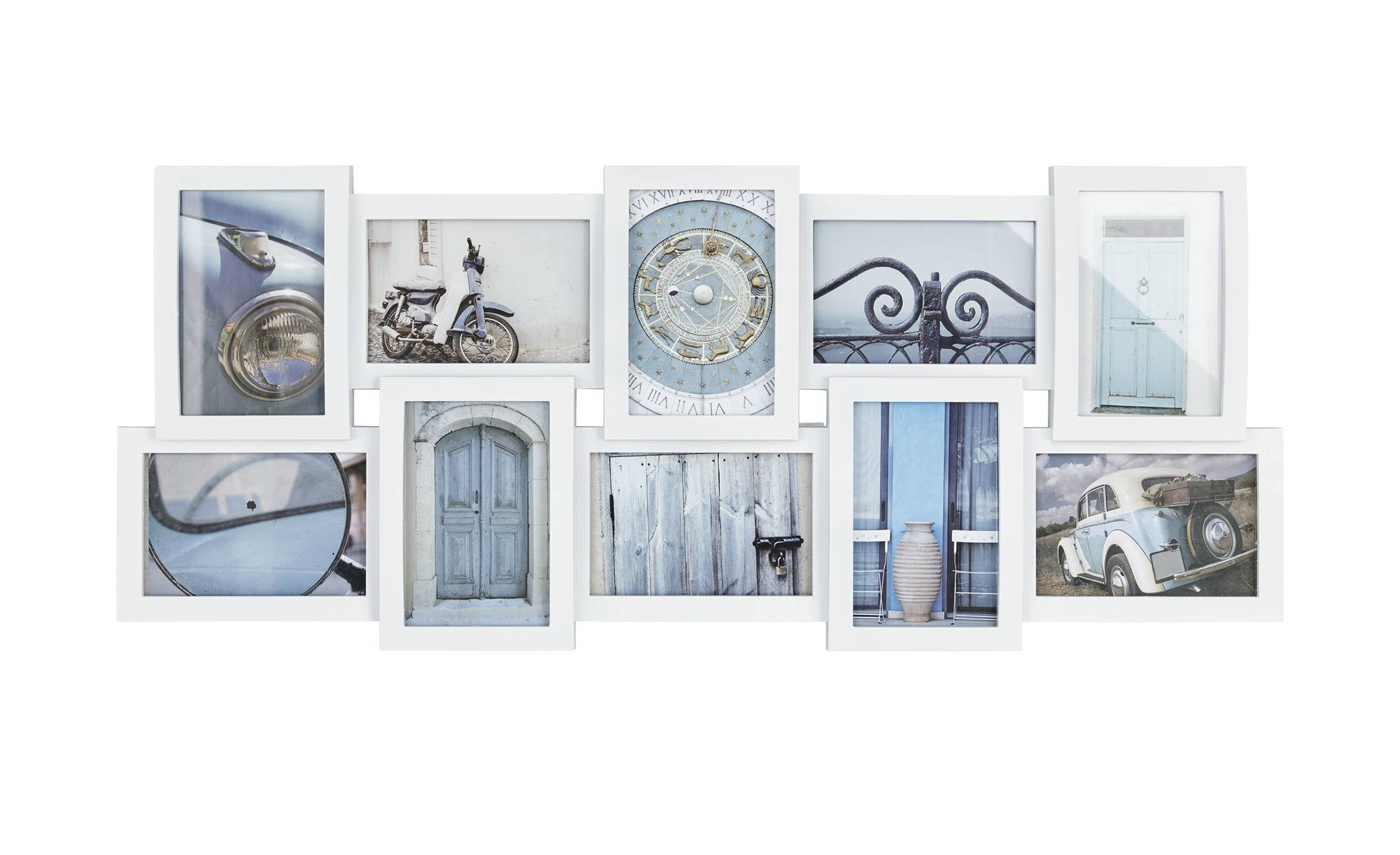 Höffner Collage 10er weiß  Sophia ¦ weiß ¦ Kunststoff