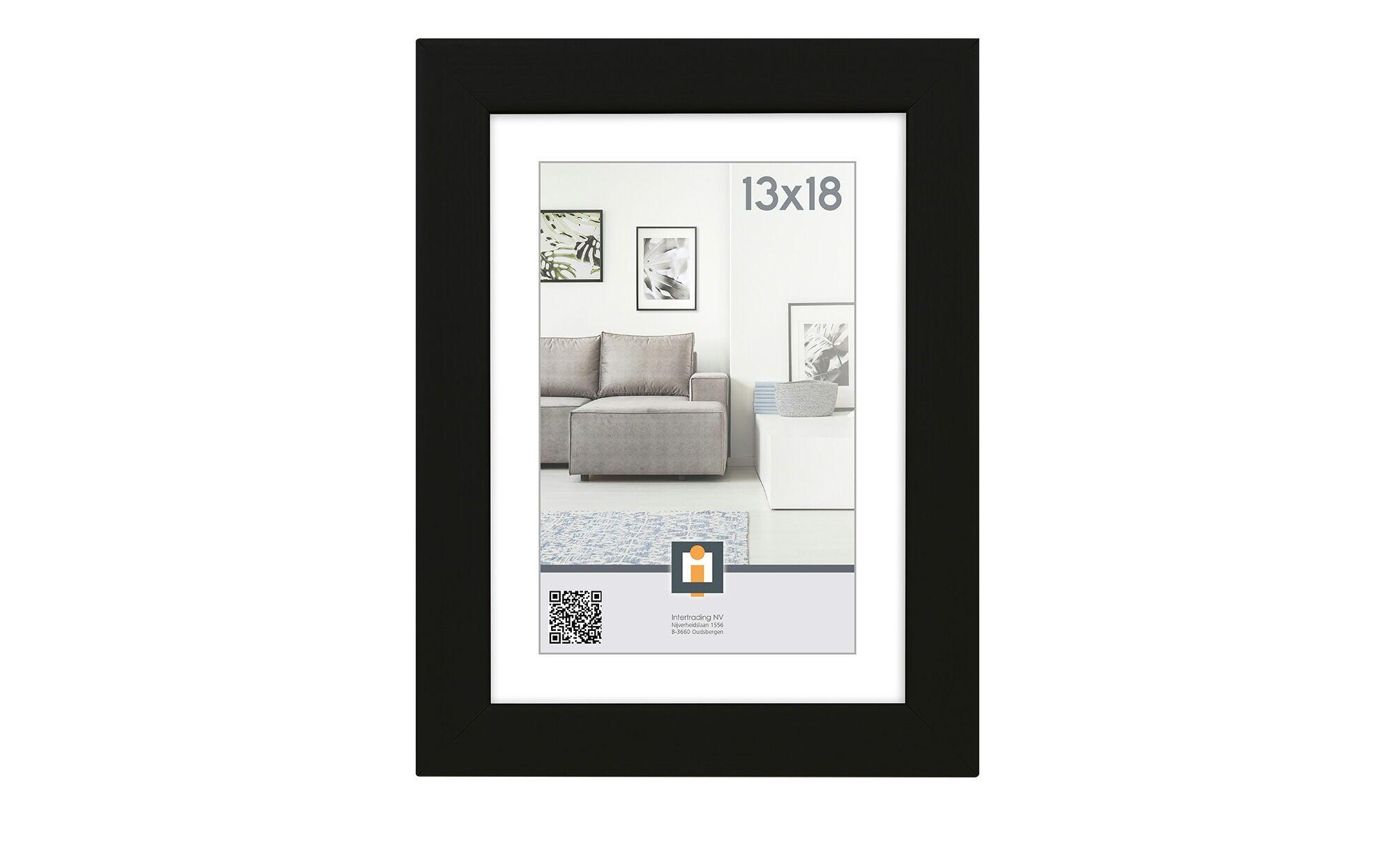 Höffner Bilderrahmen 13x18 cm  Livorno ¦ schwarz