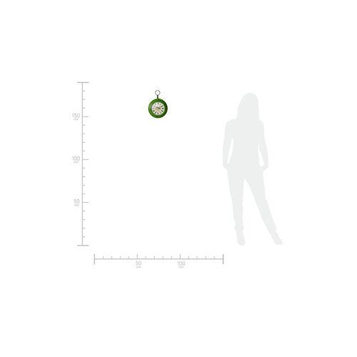 Höffner Wanduhr  Chardona ¦ grün ¦ Maße (cm): B: 22 H: 31 T: 5