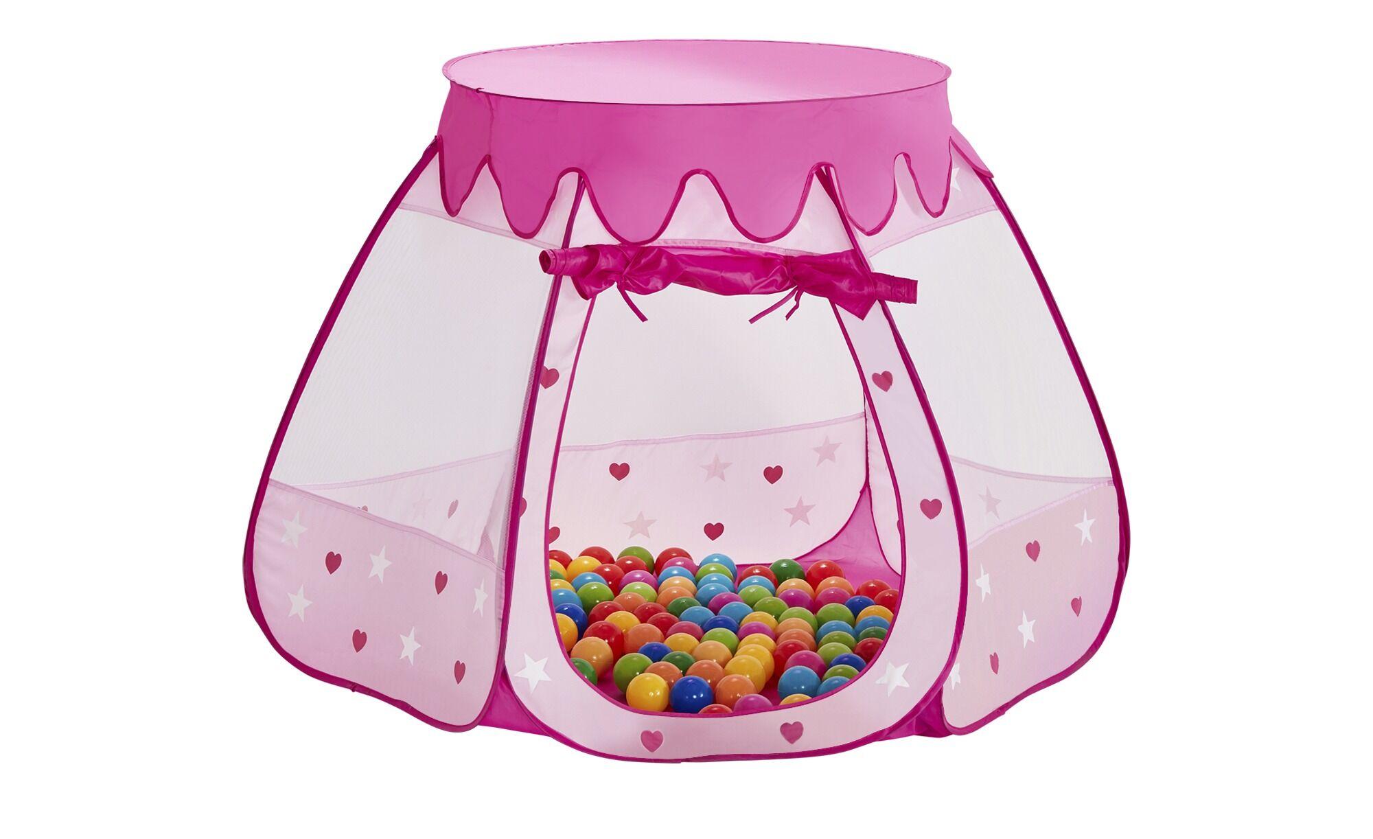 Höffner Spielzelt  Prinzessinnen Palast ¦ rosa/pink ¦ Polyester Ø: 100