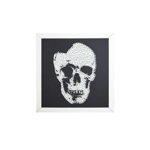Höffner Wandspiegel mit Totenkopf  Xino ¦ verspiegelt ¦ Maße (cm): B: 90 H: 9