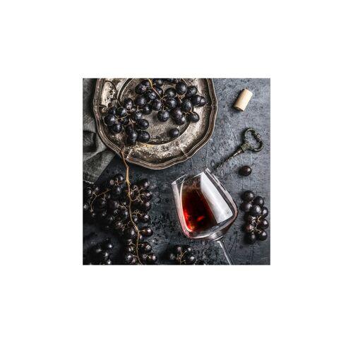 Höffner Glasbild 50x50 cm  Wein und Trauben