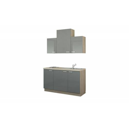 Höffner Küchenzeile mit Elektrogeräten  Aue ¦ Maße (cm): B: 150