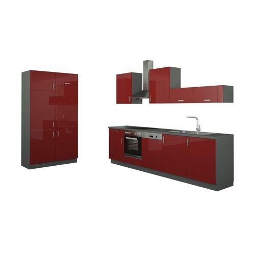 Höffner Küchenzeile ohne Elektrogeräte  Fürth ¦ rot