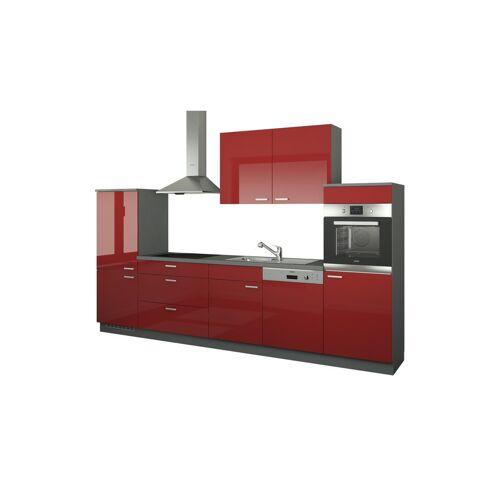 Höffner Küchenzeile ohne Elektrogeräte  Neuss ¦ rot