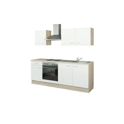 uno Küchenzeile mit Elektrogeräten  Halle ¦ weiß