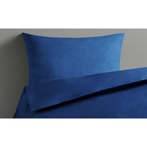 LAVIDA Bettwäsche  Uni Satin ¦ blau ¦ reine Baumwolle ¦ Maße (cm): B: