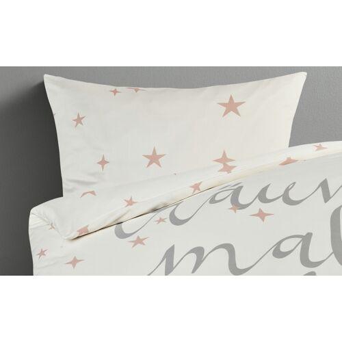 LAVIDA Satin Bettwäsche  Stars ¦ weiß ¦ reine Baumwolle ¦ Maße (cm):