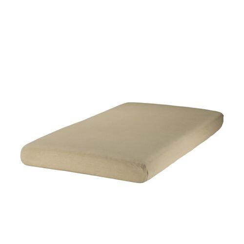 Zöllner Spannbettlaken für Kinderbetten, Jersey ¦ braun ¦ 100% Baumwo