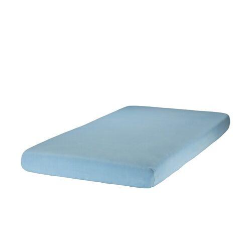 Zöllner Spannbettlaken für Kinderbetten, Jersey ¦ blau ¦ 100% Baumwol