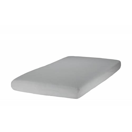 Zöllner Spannbettlaken für Kinderbetten, Jersey ¦ grau ¦ 100% Baumwol