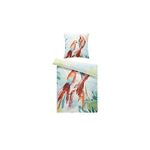 Höffner Satin Bettwäsche  Papagei ¦ 100% Baumwolle   ¦ Maße (cm): B: 135