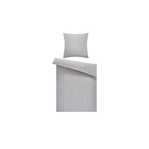 Höffner Microfaser-Bettwäsche  Microfaser-Bettwäsche ¦ grau ¦ 100% Polyester