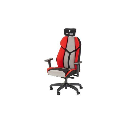 Höffner Gaming-Stuhl mit Kopfstütze  Zocker SL ¦ rot