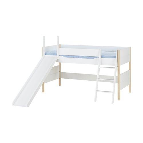 PAIDI Spielbett mit Rutsche 90x200 weiß Ylvie ¦ weiß ¦ Maße (cm): B: