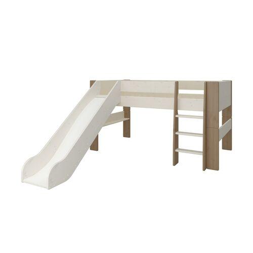 Höffner Spielbett mit Rutsche  Malte ¦ weiß ¦ Maße (cm): B: 206 H: 113,1 T: 2