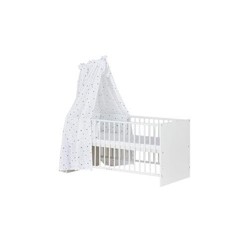Schardt Komplett-Kinderbett 70x140 weiß Sternchen ¦ weiß ¦ Maße (cm):