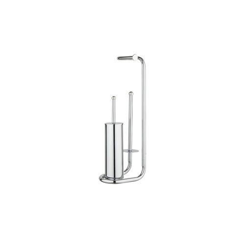 Höffner Stand WC Garnitur  Universalo ¦ silber ¦ Maße (cm): B: 20 H: 62,5 T: