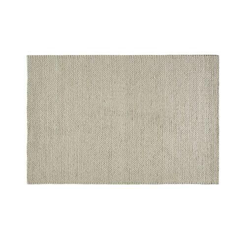 Gray & Jones Handwebteppich ¦ beige ¦ Viskose, Baumwolle, Wolle
