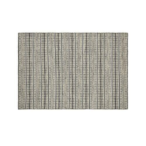 Höffner Handgewebter Teppich  Nordic 1 ¦ schwarz ¦ 100% Wolle, Wolle ¦ Maße (