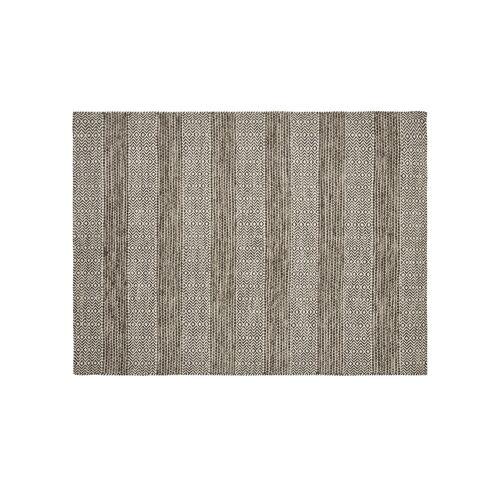 Höffner Handgewebter Teppich  Nordic 2 ¦ braun ¦ 100% Wolle, Wolle ¦ Maße (cm