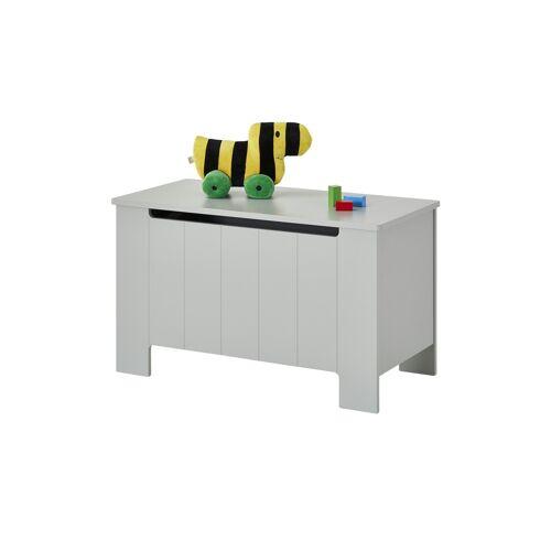Höffner Spielzeug-Truhe  Smilla ¦ grau ¦ MDF