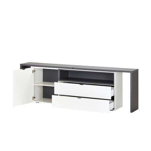 Höffner Sideboard  mit Schreibtischfunktion  Salerno ¦ weiß ¦ Maße (cm): B: 2