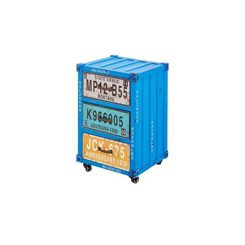 Höffner Kommode im Containerdesign  Alassio ¦ blau