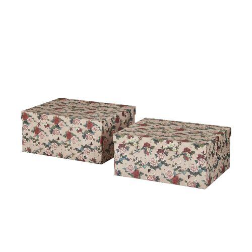 Höffner Aufbewahrungsboxen, 2er-Set ¦ rosa/pink ¦ Papier ¦ Maße (cm): B: 30 H