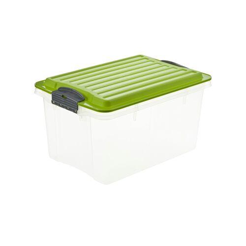 Höffner Aufbewahrungsbox mit Deckel ¦ grün ¦ Maße (cm): B: 18,5 H: 15