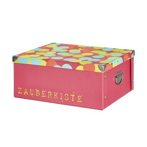 Höffner Pappbox  Zauberkiste ¦ rosa/pink ¦ Metall, Pappe