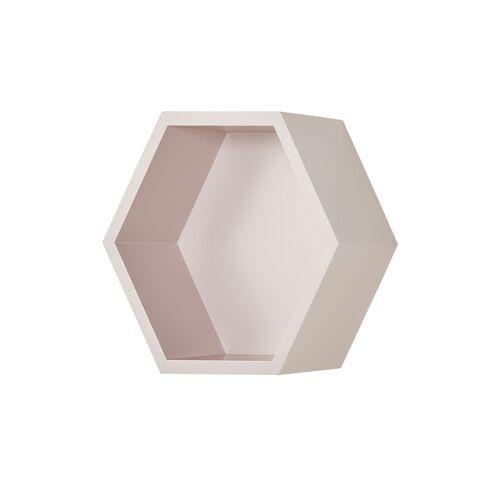 Höffner Wandregal  Hexagon ¦ rosa/pink ¦ Maße (cm): B: 27 H: 27 T: 12