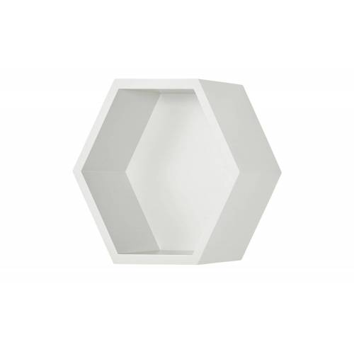 Höffner Wandregal  Hexagon ¦ weiß ¦ Maße (cm): B: 27 H: 27 T: 12