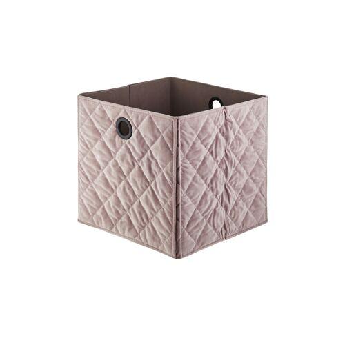 Höffner Aufbewahrungsbox ¦ rosa/pink ¦ Samt, Pappe