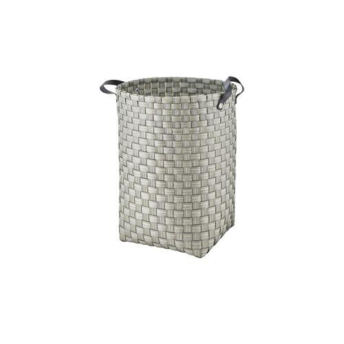 Höffner Wäschekorb ¦ grau ¦ Kunststoff, Metall ¦ Maße (cm): H: 49 Ø: 40