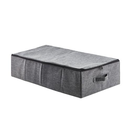 Höffner Unterbettkommode ¦ grau ¦ Metall, Polyester