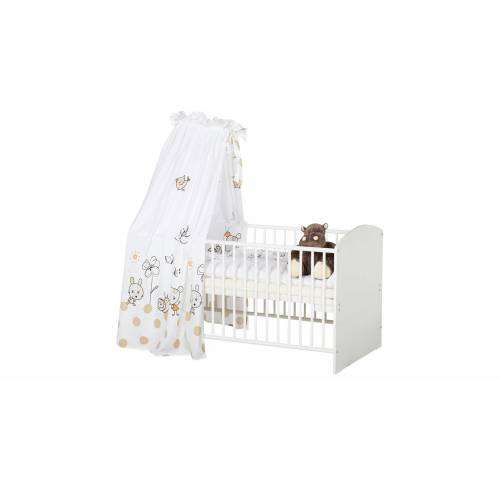 Schardt Komplett-Kinderbett   Frühling Weiß ¦ weiß ¦ Maße (cm): B: 70