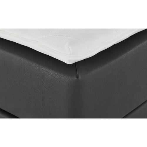 Höffner Boxspringbett Kunstleder  Krom ¦ grau ¦ Maße (cm): B: 200
