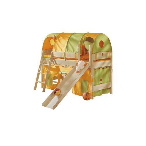 PAIDI Spielbett mit Rutsche 90x200 Birke Fleximo ¦ holzfarben ¦ Maße