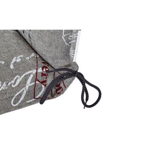 GO-DE Gartenstuhl-Auflage  Stamp ¦ grau ¦ 85% Baumwolle, 15% Polyeste