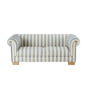smart Sofa 3-sitzig blau/weiß - Flachgewebe Maria ¦ mehrfarbig ¦ Maße