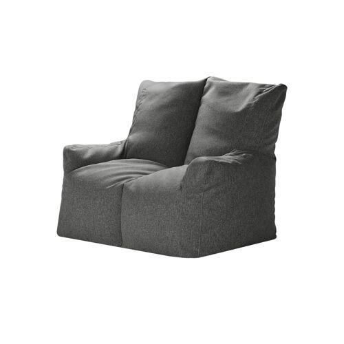 Höffner Sitzsack-Sofa  Fiete ¦ grau
