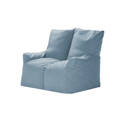 Höffner Sitzsack-Sofa  Fiete ¦ blau