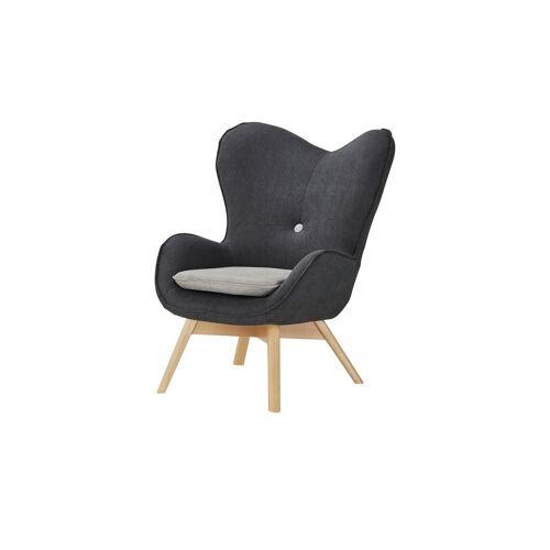 Höffner Sessel  Maxi ¦ grau ¦ Maße (cm): B: 86 H: 100 T: 92